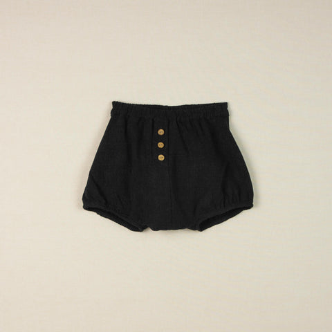 Popelin Black culotte with placket