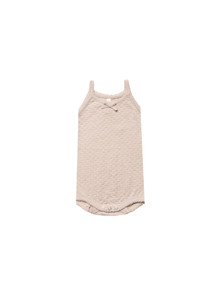 Quincy Mae Pointelle Tank Onesie Rose