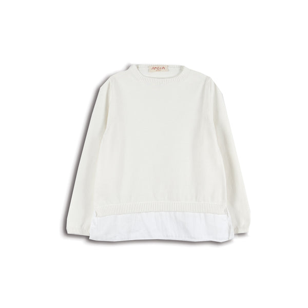 AMELIA AURORA SWEATSHIRT W/PLEATS