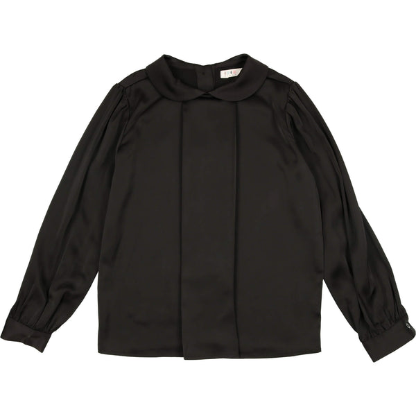 Coco Blanc Silky Blouse Black