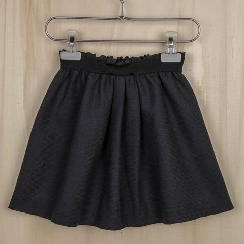 MINIMU CONCETTA-pleated skirt shiny fleece dark grey