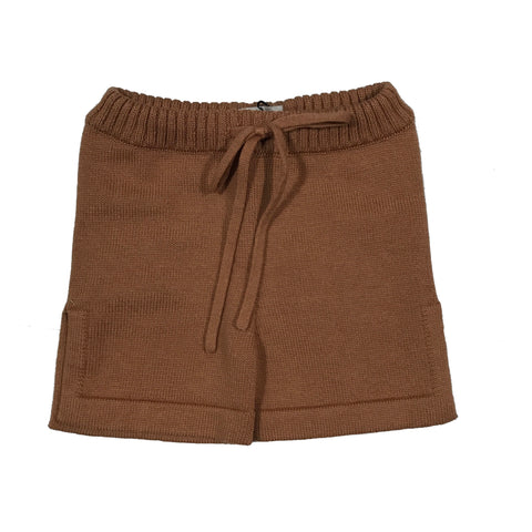 KNIT V-KNECK SHORTS PEACHY