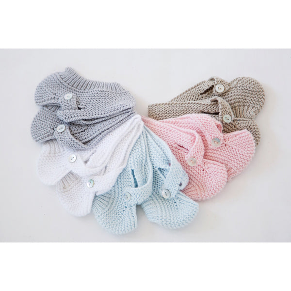 KNITTED BOOTIES - BABY ELAINE