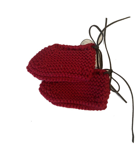 TOCON KNIT RED BOOTIES
