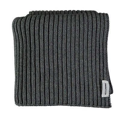 TOCON BABY BLANKET RIBBED COAL