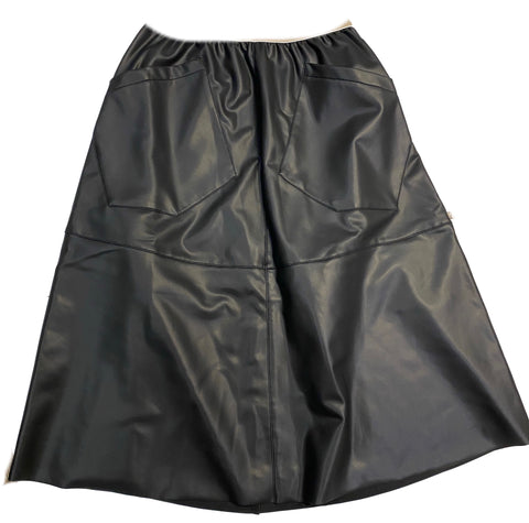 UNLABEL MARK SKIRT BLACK
