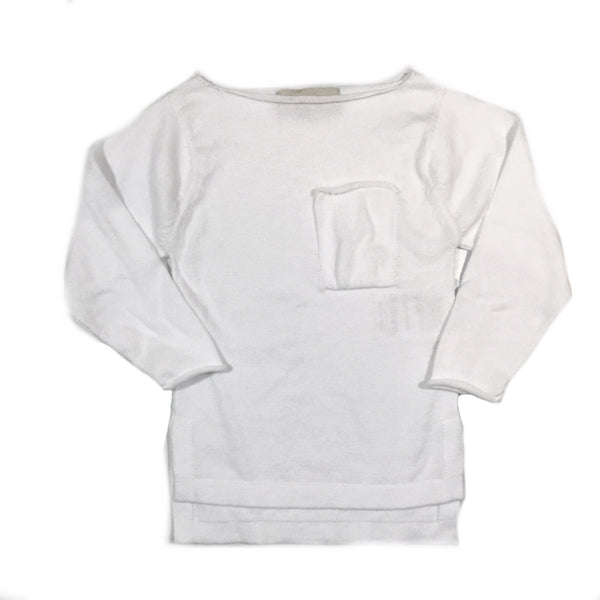 KNIT UNEVEN LONG SLEEVES WHITE