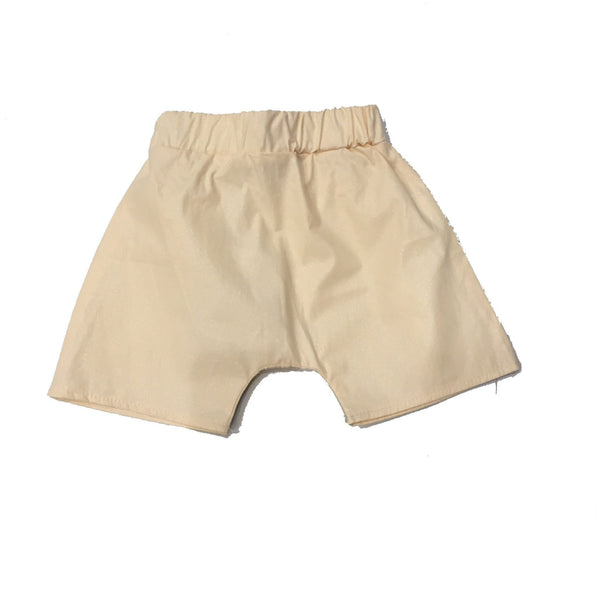 MINIMU CREAM LUREX SHORTS - BABY ELAINE