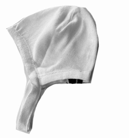 TOCON KNIT WHITE BONNET