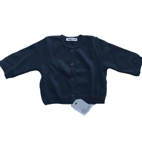 TOCON KNIT NAVY CARDIGAN