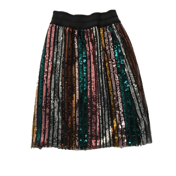 NEUCES SEQUINS PEONIA SKIRT LONG