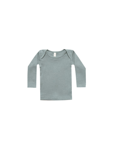 Quincy Mae Ribbed Longsleeve Lap Tee Sea