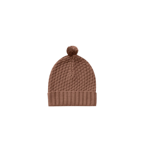 Quincy Mae Knit Pom Pom Beanie clay