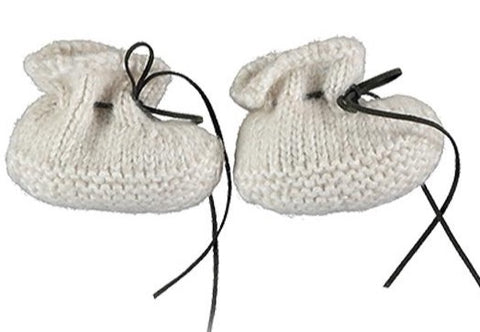 TOCON BABY BOOTIES WOOL NATURAL