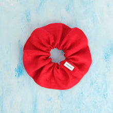 Load image into Gallery viewer, Strawberry Red - Large Linen Scrunchie
