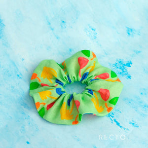 Lovely like you - Large Linen Scrunchie