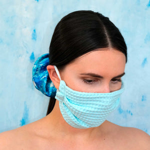 Mint Adjustable Cotton Face mask, Breathable and Washable, Made in Canada