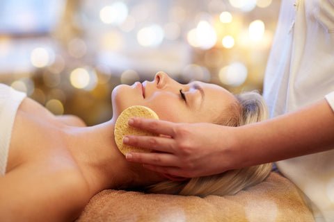 a facial treatment to help dry skin
