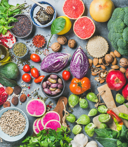 whole healthy foods are essential for skin vitamins