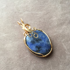 Sodalite 14K Gold Filled Pendant