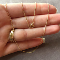 "18"" 14K Gold Filled Small Curb Chain Necklace"