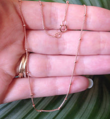 "20"" Rose Gold Filled Satellite Chain Necklace"