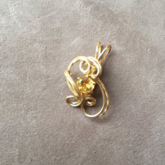 Faceted Citrine 14K Gold Filled Sculpted Wire Wrapped Pendant