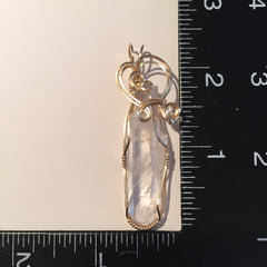 Clear Quartz Double Terminated Crystal 14K Gold Filled Pendant