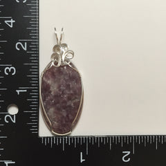 Lepidolite Sterling Silver Wire Wrapped Pendant