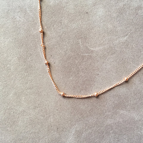 "18"" Rose Gold Filled Satellite Chain Necklace"