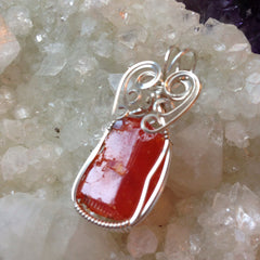 Red Cloud Mine Wulfenite Sterling Silver Pendant