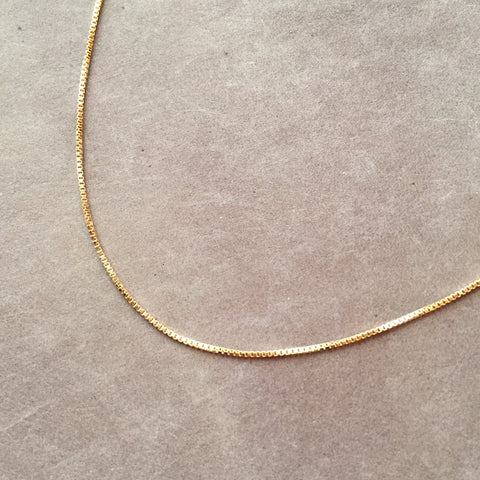 "24"" 14K Gold Filled Box Chain Necklace"