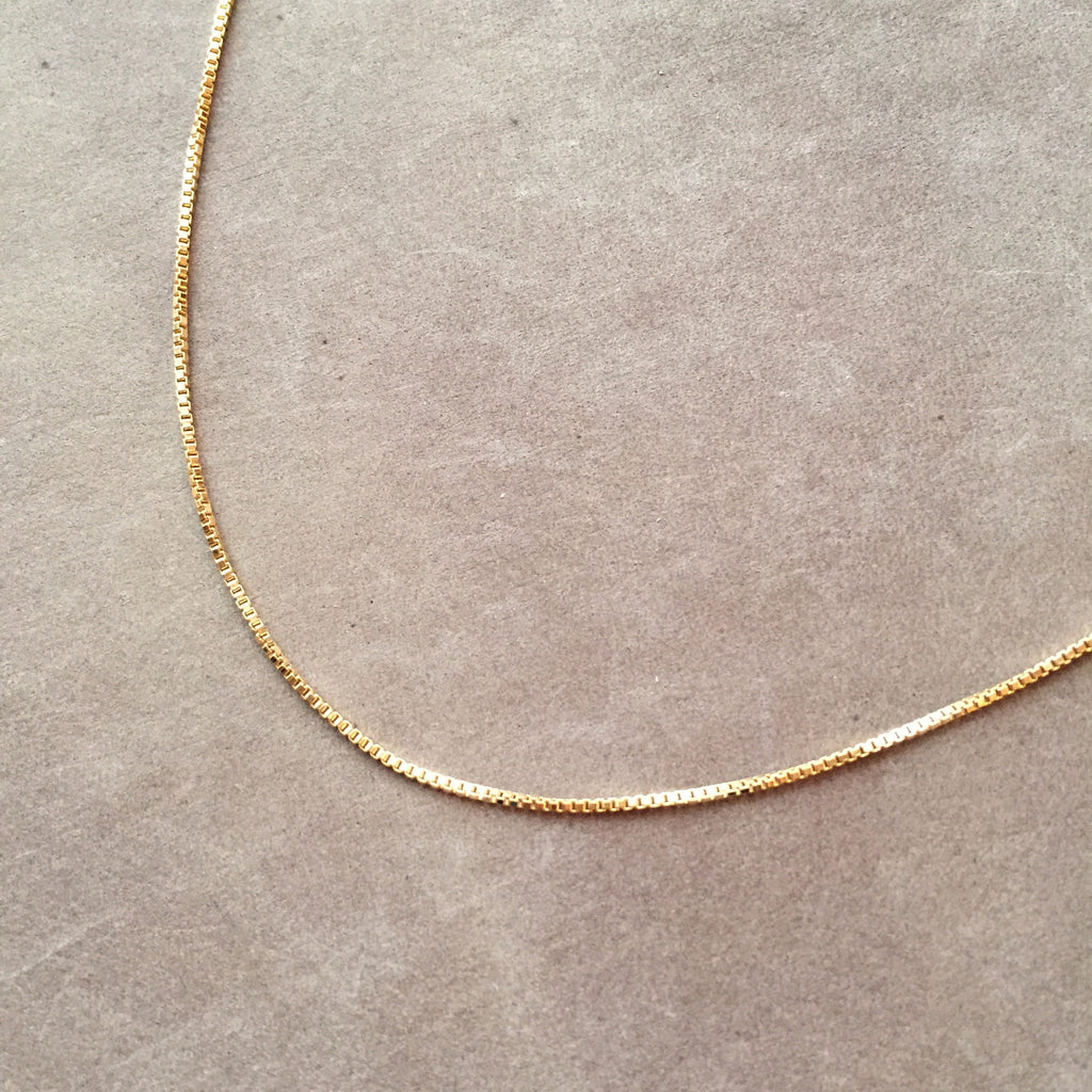 "20"" 14K Gold Filled Box Chain Necklace"