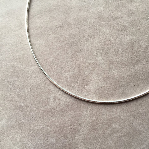 "16"" Sterling Silver Omega Chain Necklace"