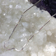 "20"" Sterling Silver Box Chain Necklace"