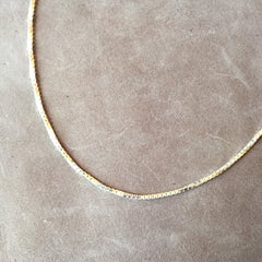 "18"" Sterling Silver Box Chain Necklace"