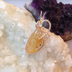 Amber Nugget Sterling Silver Pendant