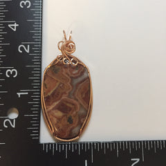 Crazy Lace Agate 14K Rose Gold FIlled Wire Pendant