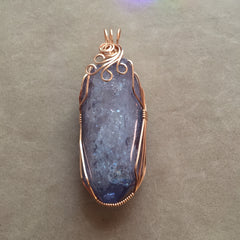 Large Celestial Aura Tanzine Aura Quartz Crystal 14K Rose Gold Filled Pendant