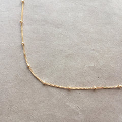 "18""  14K Gold Filled Satellite Chain Necklace"