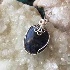Sodalite Sterling Silver Pendant