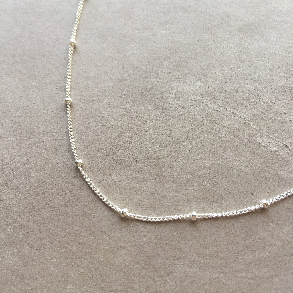 "18""  Sterling Silver Satellite Chain Necklace"
