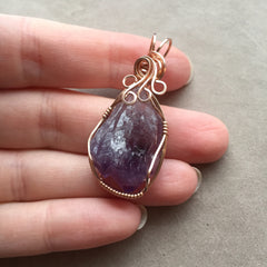 Amethyst Crystal 14K Rose Gold Filled Pendant