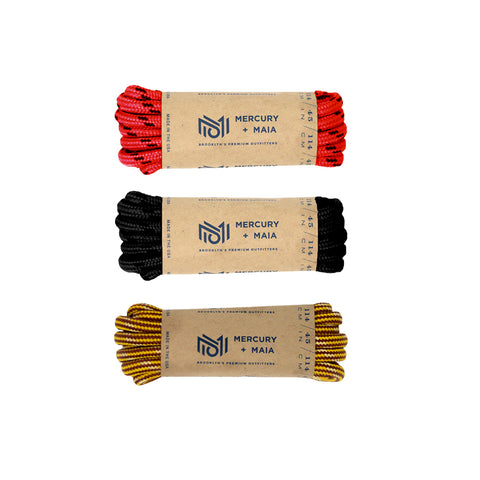 Image of Honey Badger Boot Laces Heavy Duty W/Kevlar - (3 Pairs)