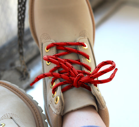 Honey Badger Kevlar Boot Laces - Red & Black