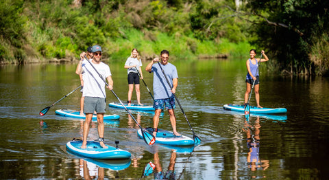 Wild Adventures Melbourne Group On StandUp PaddleBoard In The Yarra River