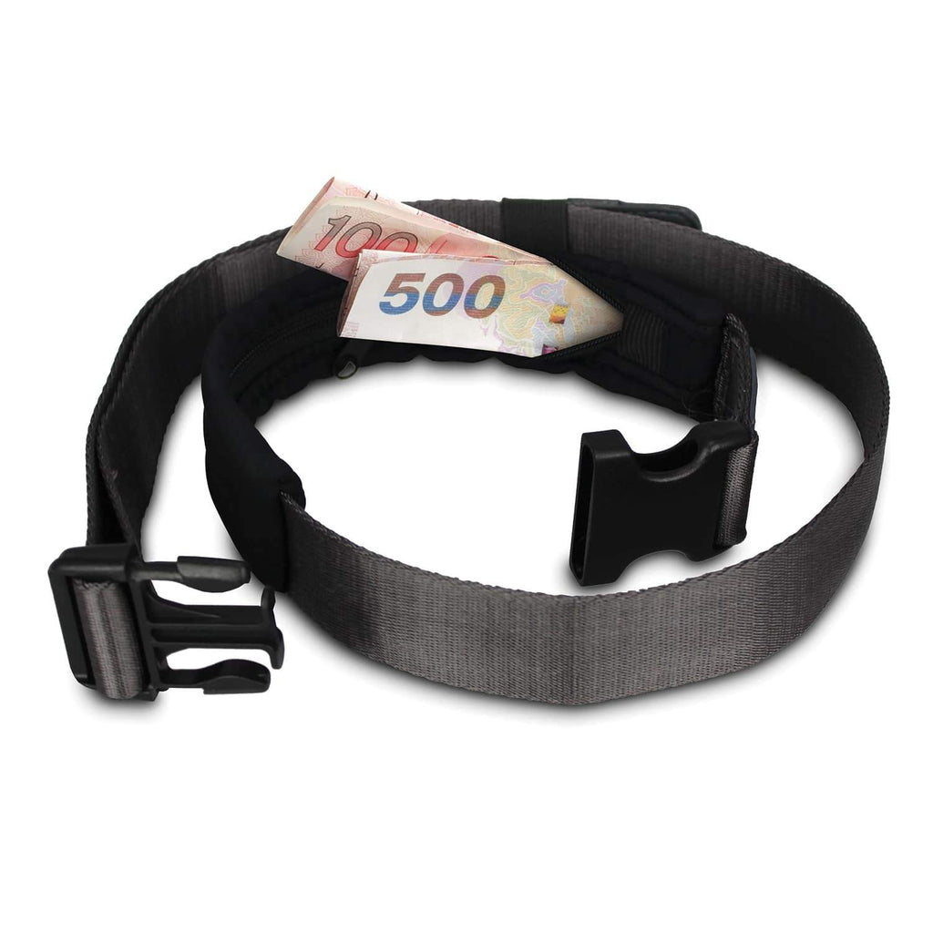 Cashsafe 25 Anti-Theft Deluxe Travel Wallet Belt, Black