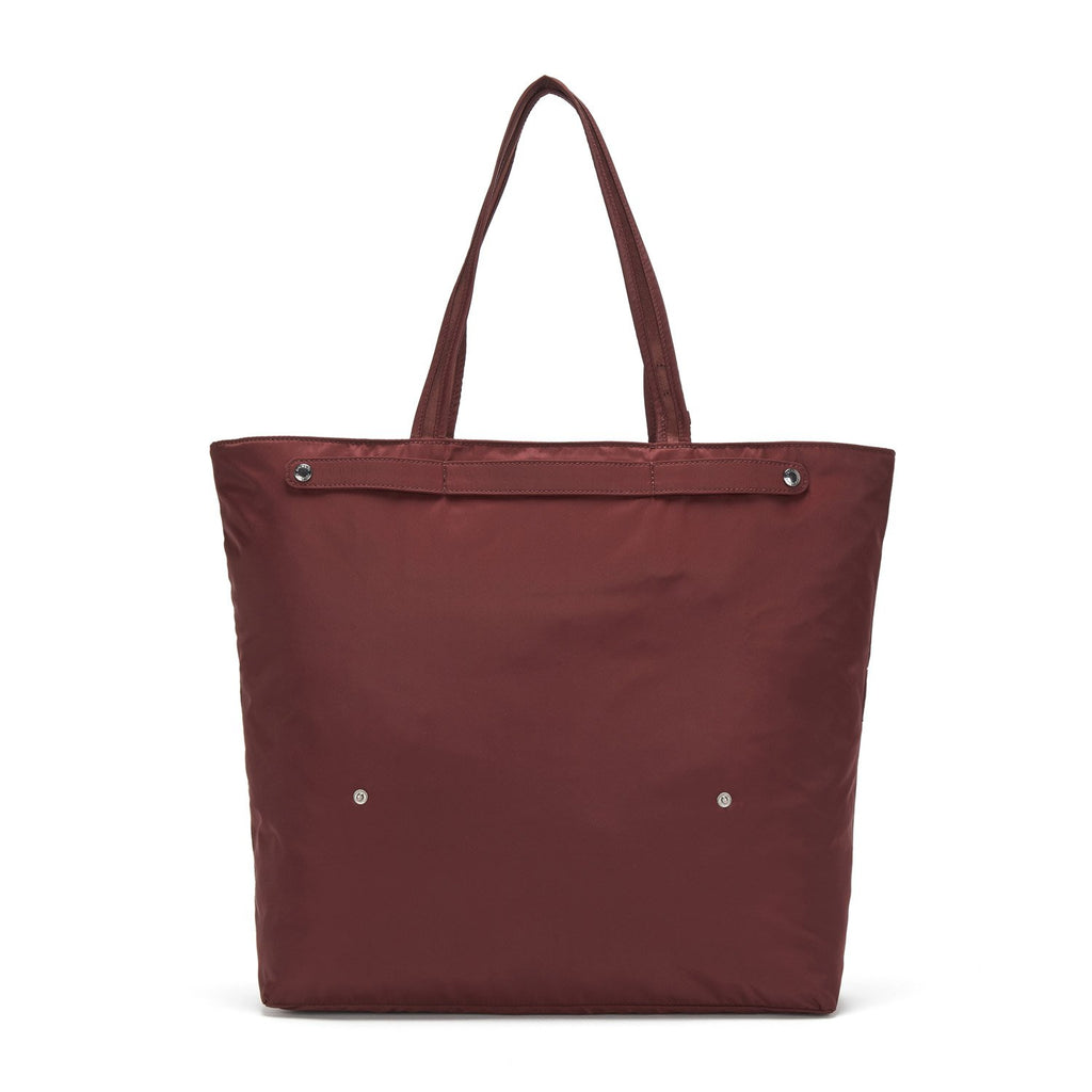 Citysafe CX Anti-Theft Packable Horizontal Tote, Merlot