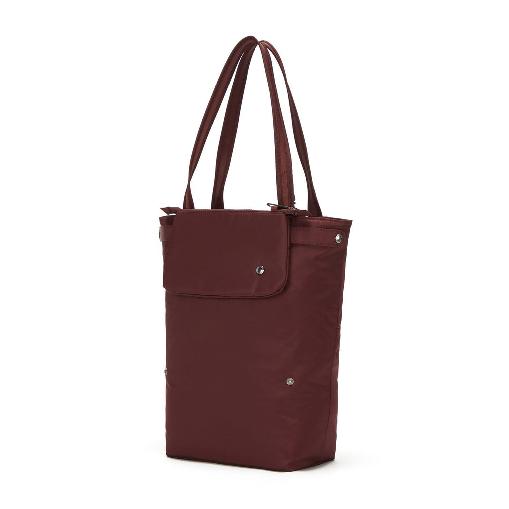 Citysafe CX Anti-Theft Packable Vertical Tote, Merlot
