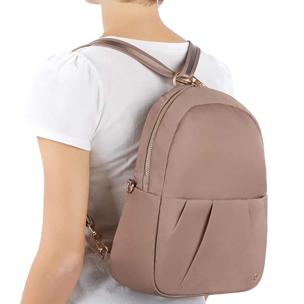 Citysafe CX Anti-Theft Convertible Backpack, Blush Tan